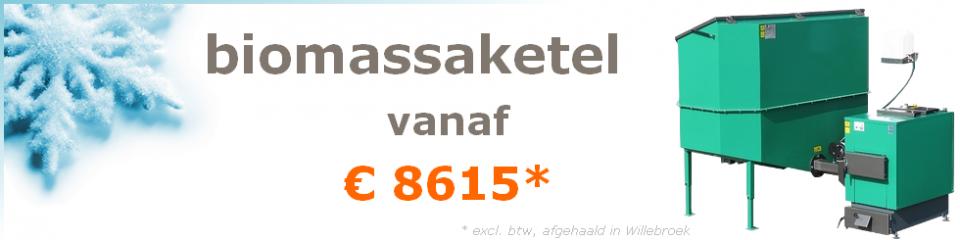 biomassaketel vanaf €8615 (excl. btw, afgehaald in Oostende)