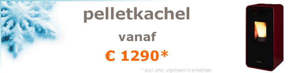 pelletkachel vanaf €1250 (excl. btw, afgehaald in Oostende)