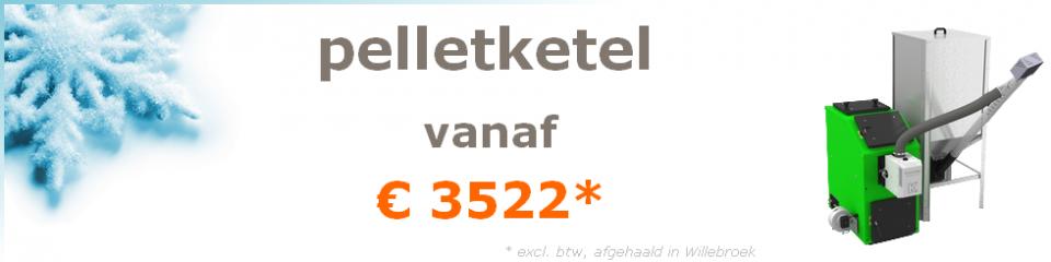 pelletketel vanaf €3522 (excl. btw, afgehaald in Oostende)