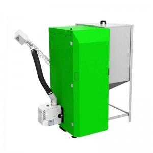 Pellet- en houtketel 24 kW