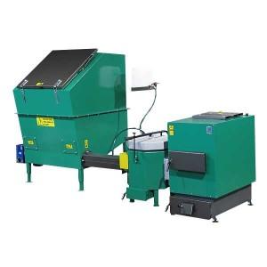 Automatisch gevoede ketel voor vochtige biomassa 30 kW