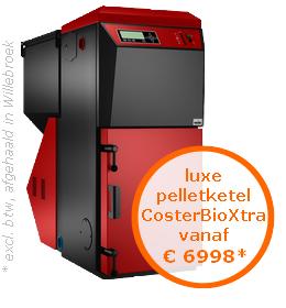 Luxe pelletketel CosterBioXtra vanaf €6998* (prijs excl. btw, afgehaald in Oostende)