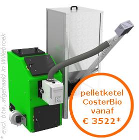 Pelletketel CosterBio vanaf €3522* (excl. btw, afgehaald in Oostende)