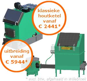 Klassieke houtketel vanaf €2441*, uitbreiding vanaf €5944* (excl. btw, afgehaald in Oostende)