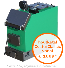 Houtketel CosterClassic vanaf €1609* (excl. btw, afgehaald in Oostende)