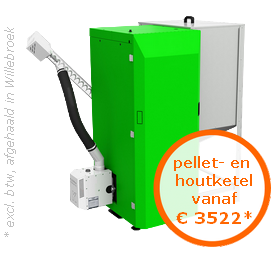 Pellet- en houtketel CosterDuo vanaf €3522* (excl. btw, afgehaald in Oostende)