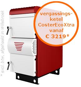 Houtvergassingsketel CosterEcoXtra vanaf €3219* (excl. btw, afgehaald in Oostende)