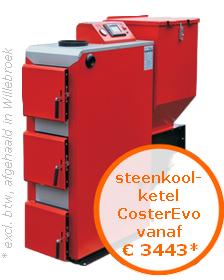 Steenkoolketel CosterEvo vanaf €3443* (excl. btw, afgehaald in Oostende)
