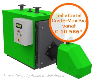 Pelletketel CosterMaxiBio vanaf €10586* (excl. btw, afgehaald in Oostende)