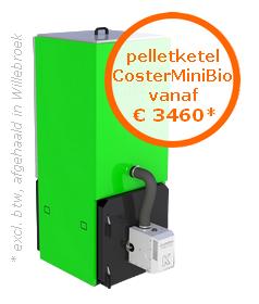 Compacte pelletketel CosterMiniBio vanaf €3460* (excl. btw, afgehaald in Oostende)