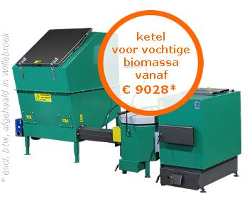 Ketel voor vochtige biomassa vanaf €9028* (excl. btw, afgehaald in Oostende)