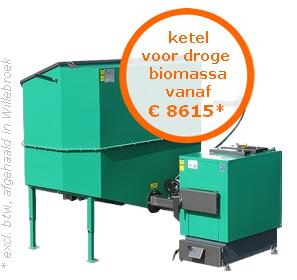 Ketel voor droge biomassa vanaf €8615* (excl. btw, afgehaald in Oostende)
